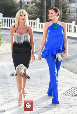 Jessica Wright , Carol Wright - Jessica Wright arrives at Olivias La Cala in Marbella with mother, Carol Wright, ahead...