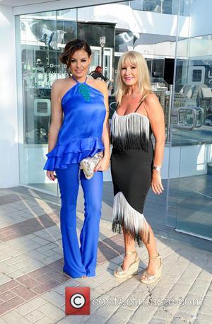 Jessica Wright , Carol Wright - Jessica Wright arrives at Olivias La Cala in Marbella with mum, Carol Wright, ahead...