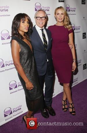 Kerry Washington, Tommy Hilfiger , Dee Ocleppo - Limited Edition Allstate Foundation Purple Purse Launch at The Plaza Hotel -...