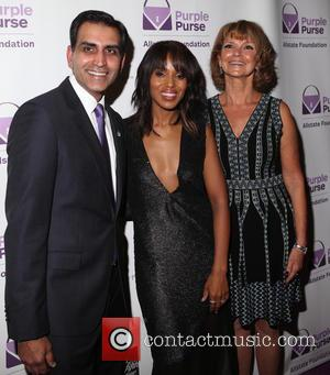 Sanjay Gupta, Kerry Washington and Vicky Dinges