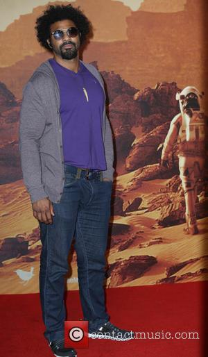 David Haye - European premiere of 'The Martian' at Odeon Leicester Square - Arrivals at Odeon Leicester Square - London,...