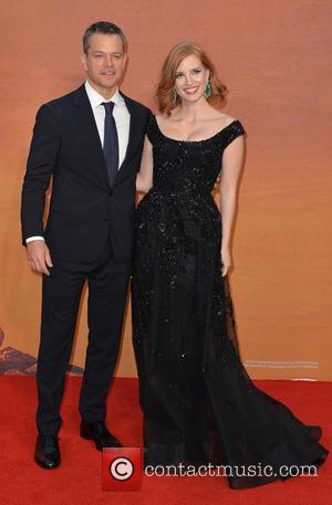 Matt Damon and Jessica Chastain