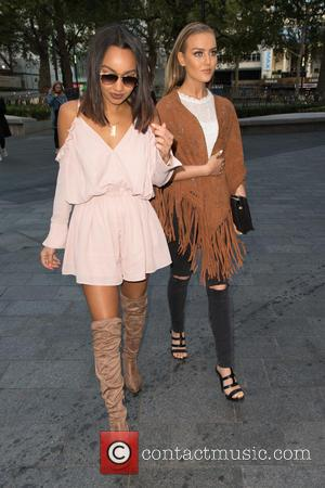 Little Mix, Perrie Edwards , Leigh-Anne Pinnock - Celebrities at Capital Radio at Global House, Leicester Square - London, United...