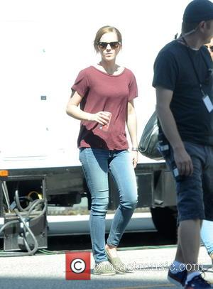 Emma Watson - Emma Watson on the set of 'The Circle,' currently filming in Beverly Hills - Los Angeles, California,...