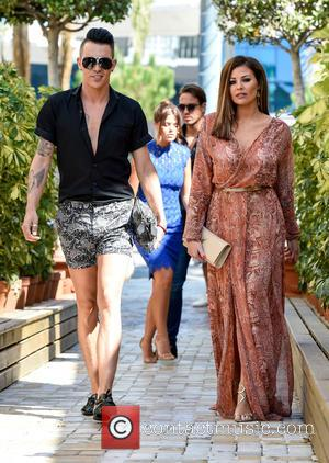 Jessica Wright , Bobby Norris - TOWIE cast arrive at Cavalli Club in Marbella for filming