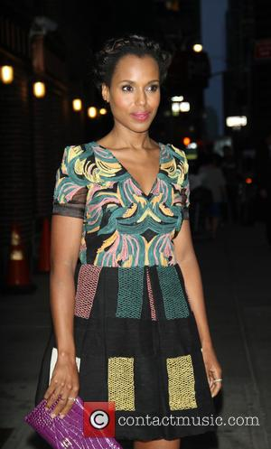 Kerry Washington - Celebrities at the Ed Sullivan Theater for 'Late Show with Stephen Colbert' at Ed Sullivan Theater -...