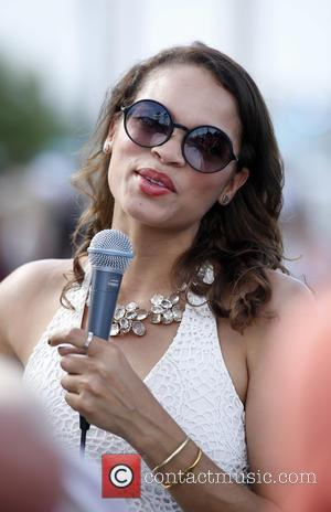 Rosario Dawson - Life is Beautiful music and cultural festival in downtown Las Vegas at Downtown Las Vegas - Las...