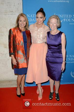 Katie Couric, Jennifer Lopez and Kathy Calvin