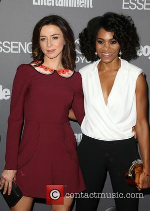 Caterina Scorsone , Kelly McCreary - ABC's TGIT premiere event - Arrivals - Los Angeles, California, United States - Saturday...