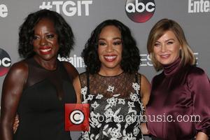 Viola Davis, Shonda Rhimes , Ellen Pompeo - ABC's TGIT premiere event - Arrivals - West Hollywood, California, United States...