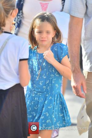 Seraphina Rose Affleck - Ben Affleck and his mother, Christine, take his two girls, Violet and Seraphina, to the Farmers...