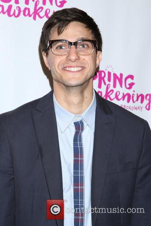 Gideon Glick - Opening night for Spring Awakening at the Brooks Atkinson Theatre - Arrivals. at Brooks Atkinson Theatre, -...