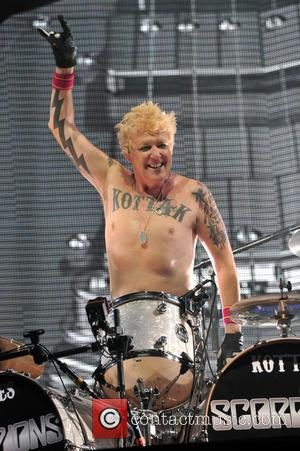 James Kottak - The Scorpions performing live in concert on their 50th anniversary tour. at Allstate Arena - Rosemont, Illinois,...