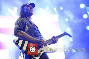 Matthias Jabs - The Scorpions performing live in concert on their 50th anniversary tour. at Allstate Arena - Rosemont, Illinois,...