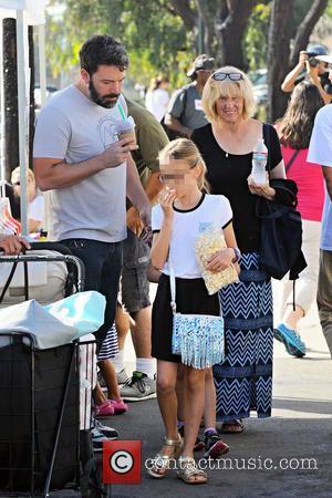 Ben Affleck, Christine Anne Boldt , Violet Affleck - Ben Affleck and his mother, Christine, take his two girls, Violet...