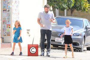 Ben Affleck, Violet Affleck , Seraphina Rose Affleck - Ben Affleck and his mother, Christine, take his two girls, Violet...