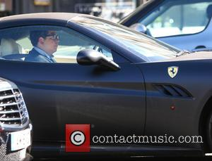 Michael McIntyre - Michael McIntyre returns to his matt black Ferrari in Primrose Hill - Windsor, United Kingdom - Monday...