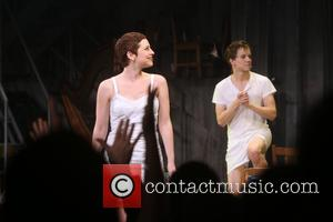 Krysta Rodriguez , Austin McKenzie - Opening night for Spring Awakening at the Brooks Atkinson Theatre - Curtain Call. at...