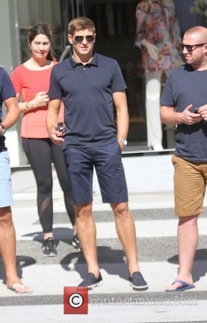 Steven Gerrard - Steven Gerrard at lunch with friends at Il Pastaio in Beverly Hills - Los Angeles, California, United...