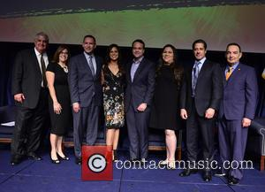 Dr. José A. Vicente, Elizabeth Bejar, Alberto Carvalho, Soledad O'brien, Jorge Plasencia, Gaby Pacheco, Brent Wilkes and Dr. Pedro Jose Greer