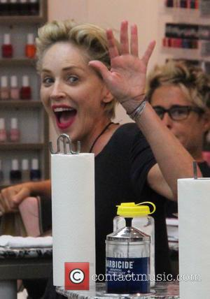 Sharon Stone - Sharon Stone gets her nails done at a salon in Beverly Hills at beverly hills - Los...