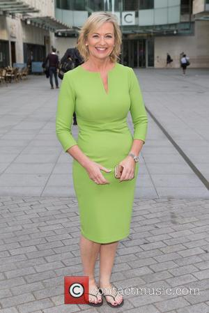 Carol Kirkwood - Carol Kirkwood spotted at the BBC Studios at BBC Portland Place - London, United Kingdom - Tuesday...