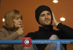 Mark Wright - Mark Wright with his nan Rene watching his brother Josh Wright play during Gillingham vs Fleetwood football...