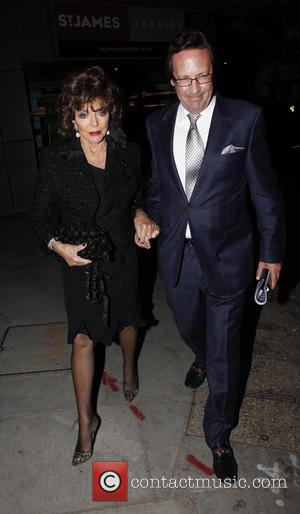 Joan Collins , Percy Gibson - Press night of 'Pure Imagination: The Songs of Leslie Bricusse' at the St James...