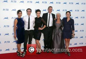 Joaquin Phoenix, Arlyn Phoenix, Rain Phoenix, Liberty Phoenix, Jeffrey Weisberg , Summer Phoenix - PETA's 35th Anniversary Bash held at...