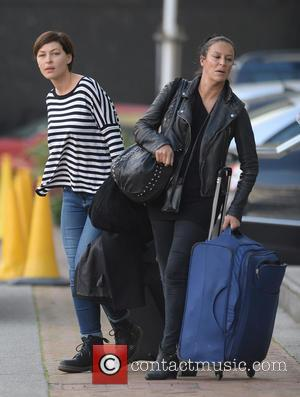Emma Willis - Celebrities leave a hotel in Manchester - Manchester, United Kingdom - Wednesday 30th September 2015