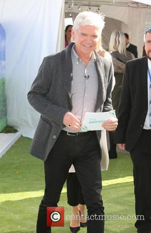 Phillip Schofield - Holly Willoughby filming outside ITV Studios - London, United Kingdom - Wednesday 30th September 2015