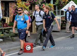 Prince Harry - Prince Harry joins Walk of Britain 2015: Walking With The Wounded in Church Stretton, Shropshire at Church...