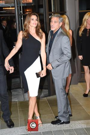 George Clooney , Cindy Crawford - George Clooney and Cindy Crawford seen arriving at the Beaumont Hotel in London ahead...