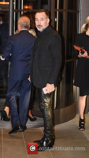David Furnish - Celebs arriving at Cindy Crawfords Book Launch. - London, United Kingdom - Thursday 1st October 2015