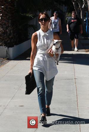 Cara Santana - Cara Santana out and about with her pet dog in Beverly Hills - Beverly Hills, California, United...