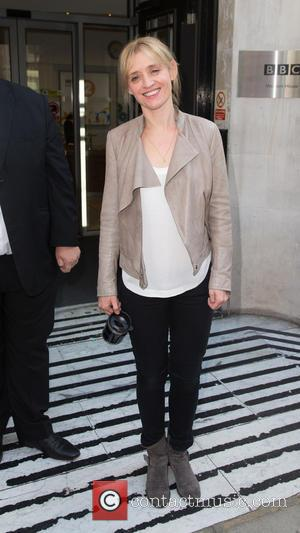 Anne-Marie Duff - Anne-Marie Duff pictured arriving at the Radio 2 studio to promote the new film 'Suffragette' which is...