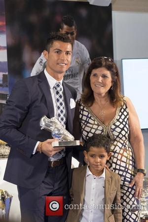 Cristiano Ronaldo, Cristiano Ronaldo Jr , Maria Dolores dos Santos Aveiro - Cristiano Ronaldo attends a ceremony for becoming Real...