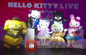 Hello Kitty Kitty White - Hello Kitty Fashion Show and friends rehearsal - London, United Kingdom - Friday 2nd October...