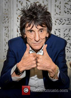 Ronnie Wood - Cheltenham Literature Festival - Day 2 at Cheltenham - Cheltenham, United Kingdom - Saturday 3rd October 2015