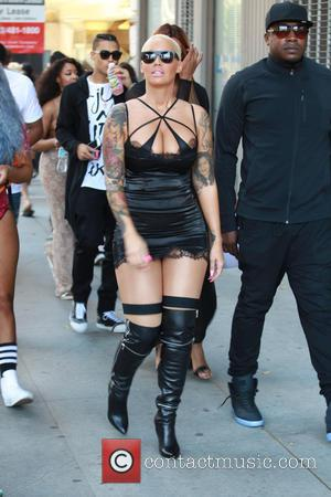 Amber Rose - Amber Rose wears a revealing outfit as she attends The Amber Rose SlutWalk in Los Angeles -...