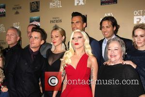 Matt Bomer, Chole Sevigny, Cheyenne Jackson, Lady Gaga, Brad Falchuk, Kathy Bates and Sarah Paulson