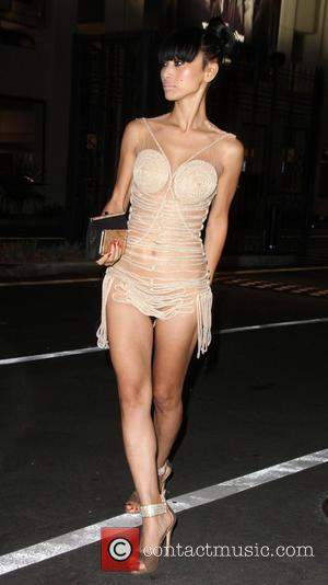 Bai Ling - Bai Ling wearing a see through dress poses outside the Sony Studios for the Special Needs Network's...