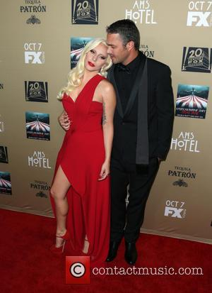 Taylor Kinney , Lady Gaga - Premiere screening of FX's 'American Horror Story: Hotel' at Regal Cinemas L.A. Live -...