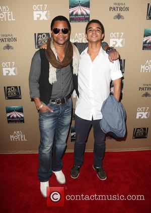 Cuba Gooding, Jr. , Spencer Gooding - Premiere screening of FX's 'American Horror Story: Hotel' at Regal Cinemas L.A. Live...
