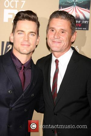 Matt Bomer , Simon Halls - Premiere screening of FX's 'American Horror Story: Hotel' at Regal Cinemas L.A. Live -...