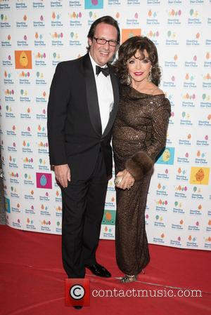 Dame Joan Collins , Percy Gibson - The Shooting Star Chase Ball held at the Dorchester - Arrivals - London,...