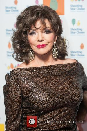 Dame Joan Collins - The Shooting Star Chase Ball held at the Dorchester - Arrivals - London, United Kingdom -...
