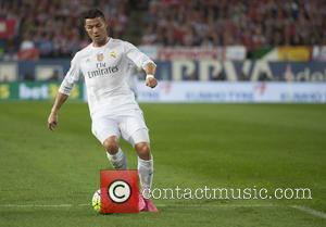 Cristiano Ronaldo - Real Madrid vs. Club Atletico at Vicente Calderon Stadium - Madrid, Spain - Sunday 4th October 2015
