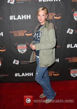 Ashley Scott - Los Angeles Haunted Hayride 2015 Black Carpet Premiere Night - Arrivals at Griffith Park - Los Angeles,...