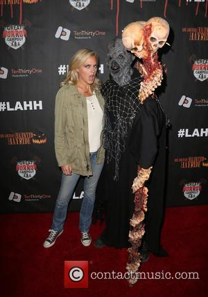 Elaine Hendrix - Los Angeles Haunted Hayride 2015 Black Carpet Premiere Night - Arrivals at Griffith Park - Los Angeles,...